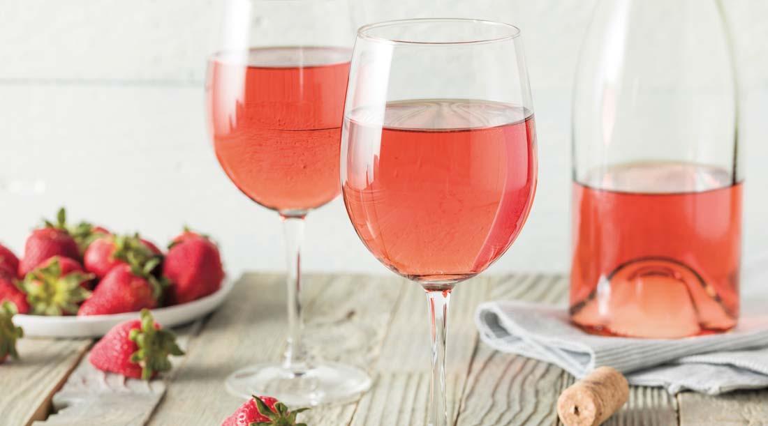 Vinho Rosé em copo