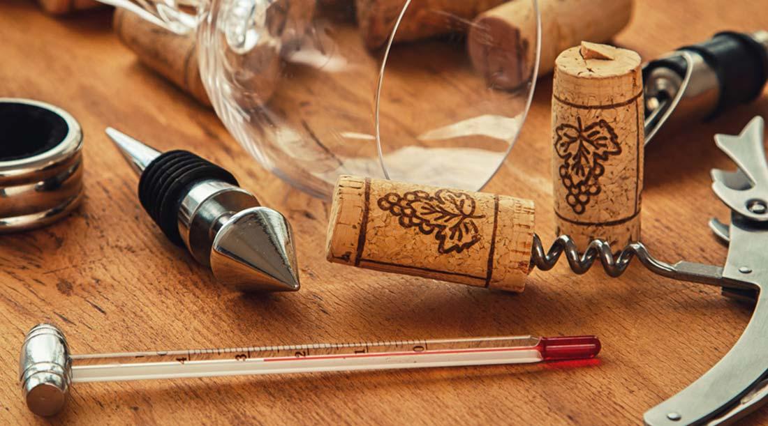 Utensílios para Conservação do Vinho