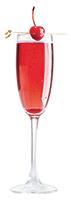 Copo de Vinho Rosé com cereja