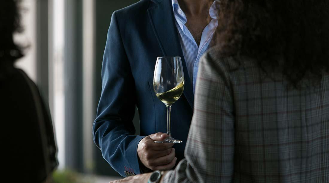 Copo de Vinho Verde em análise