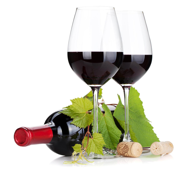 Dois copos de Vinho Tinto