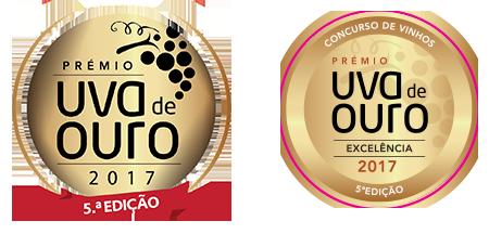Medalha Excelência em 2017 no Concurso de Vinhos Uva de Ouro