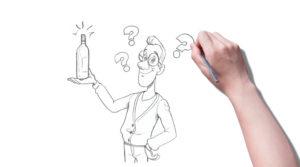 Ilustração de vinho